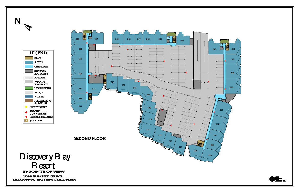 2nd level map at discovery bay resort