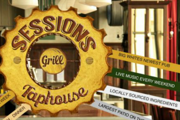 Sessions Taphouse Big White Sign