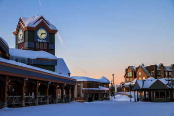The Village clock tower at Big White