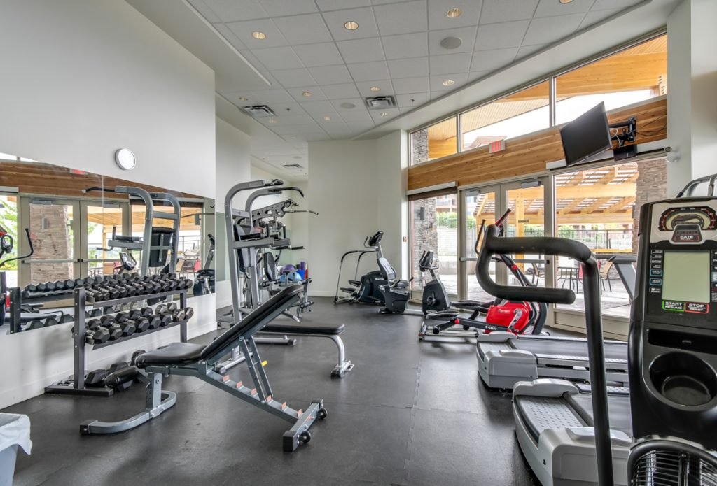 fitness centre at copper sky