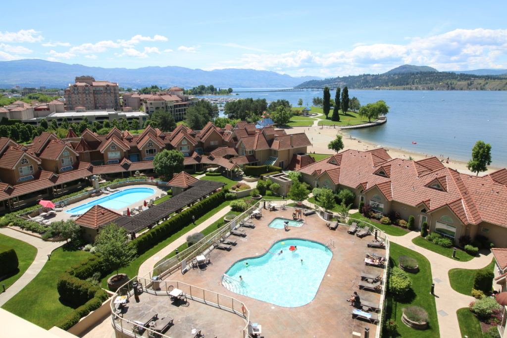 Kelowna-Pay-Parking at Sunset Waterfront Resort - view from above