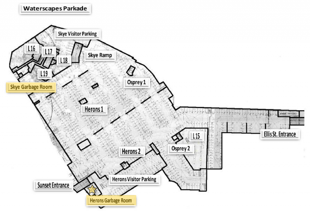 Waterscapes Parking and Garbage Map